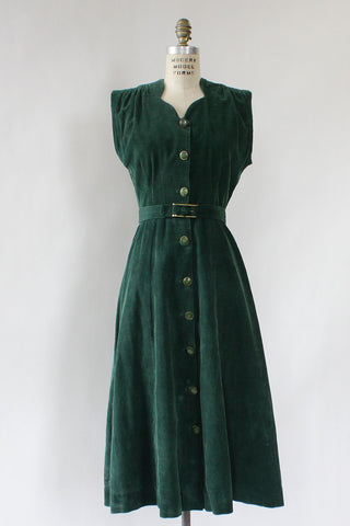 Forest Corduroy Dress M