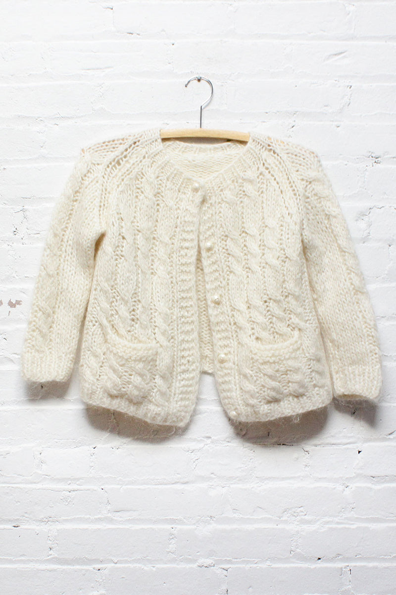 Snow White Cropped Cardigan XS/S