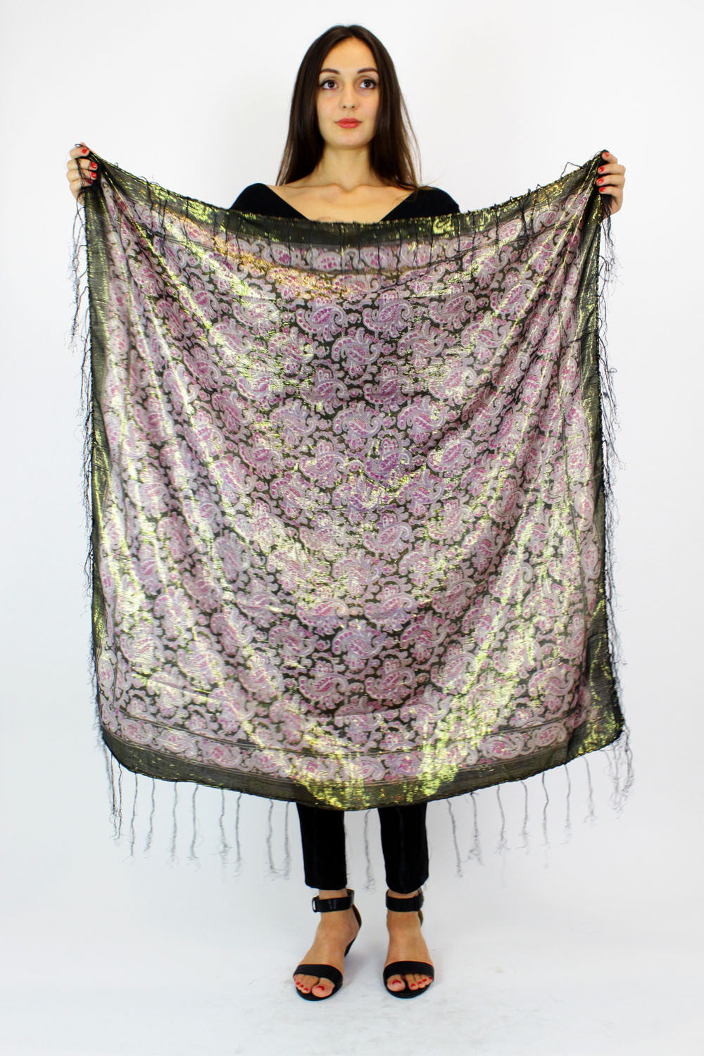 purple gypsy scarf