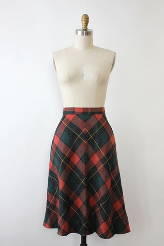 Electric Plaid Maxi Skirt M