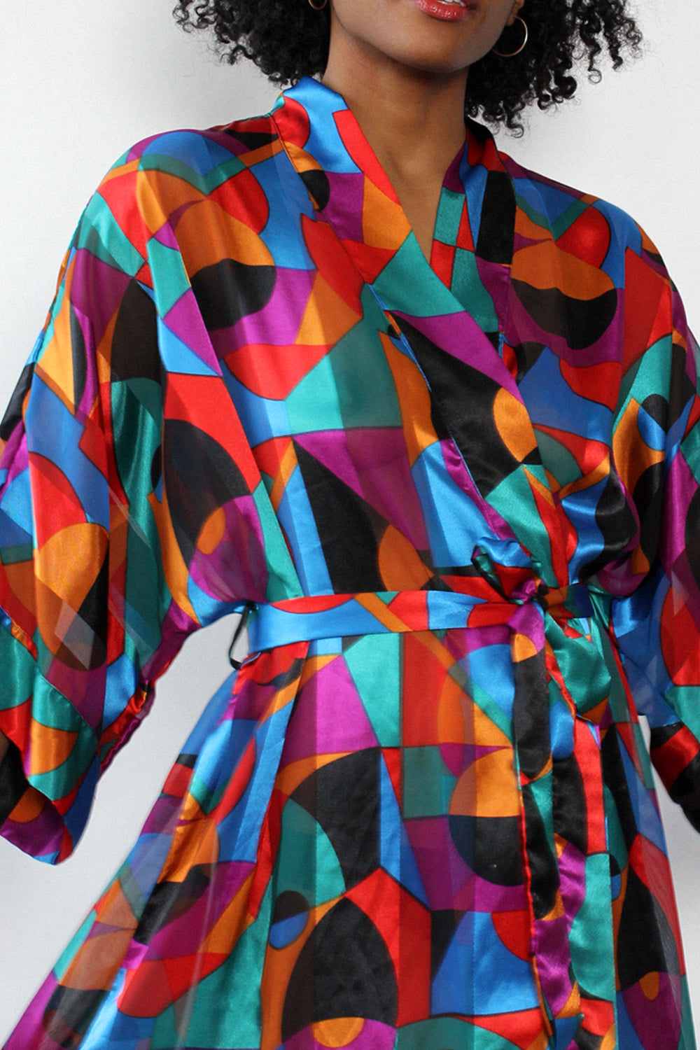 Cacique Geometric Robe S-L