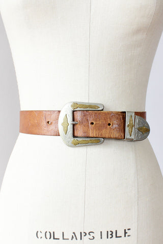 Floral Tooled Western Belt