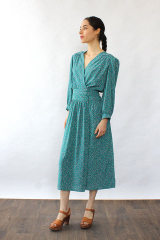 Gunne Sax Calico Maxi Dress S/M