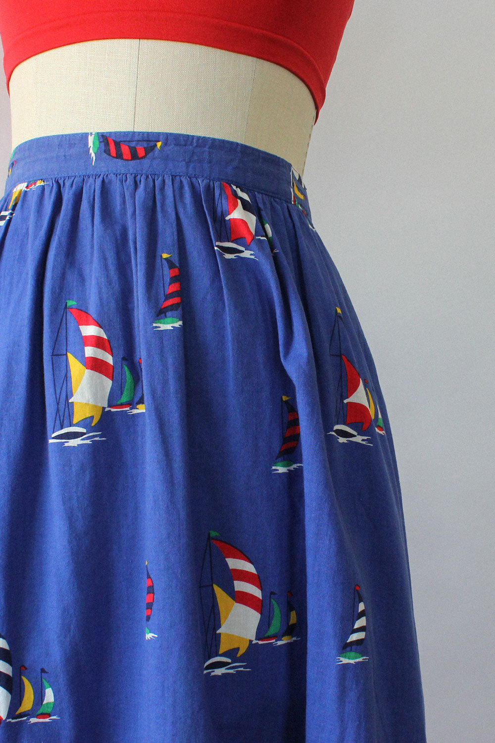 Sail Away Novelty Print Skirt S