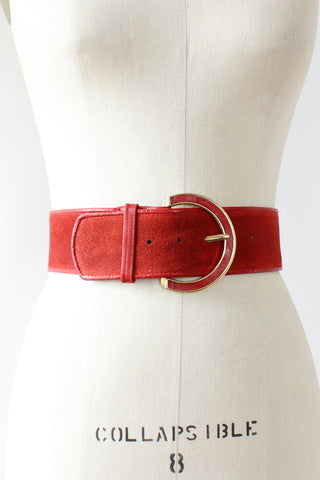 Dior Red Suede Belt