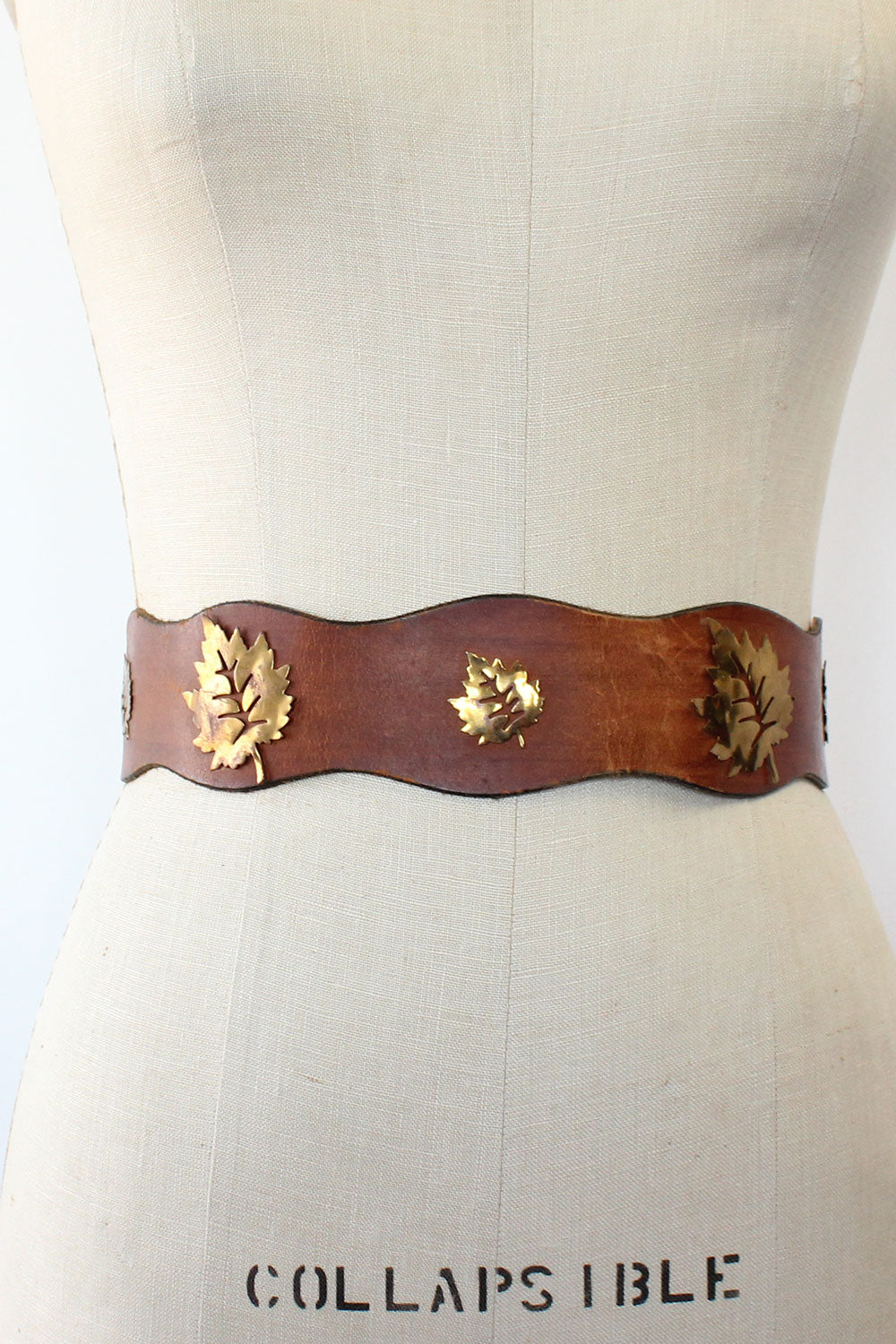 Brass Leaf Waist Belt