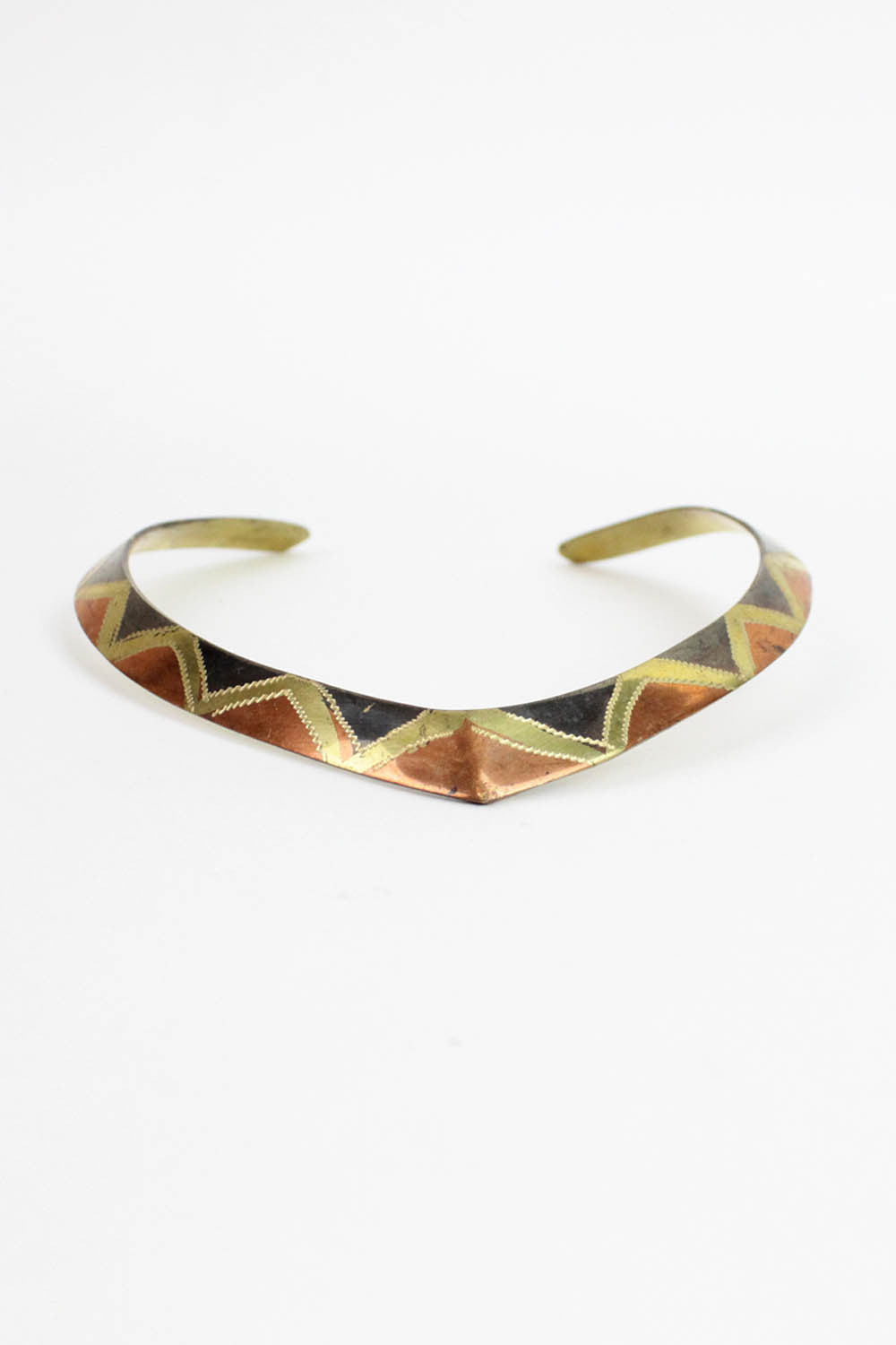Angular Tri-metal Choker