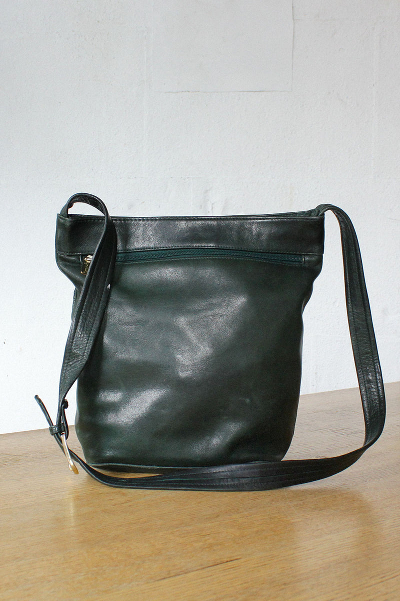 Hunter Green Leather Tote