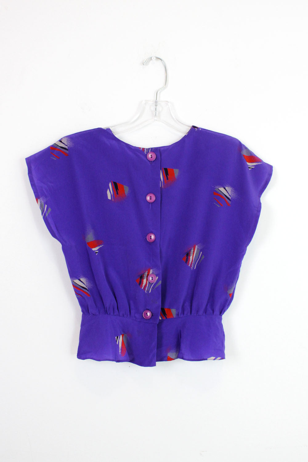 Abstract violet blouse S