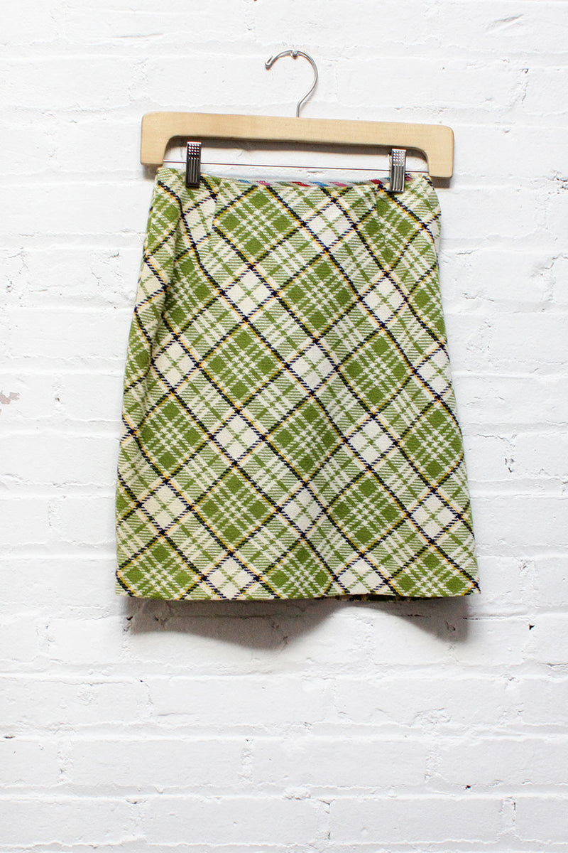 Bobbi Plaid Mini Skirt XS