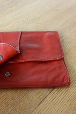 Rust Leather Clutch