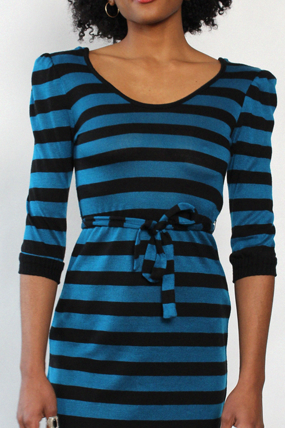 Peacock Stripe Knit Dress XS-M