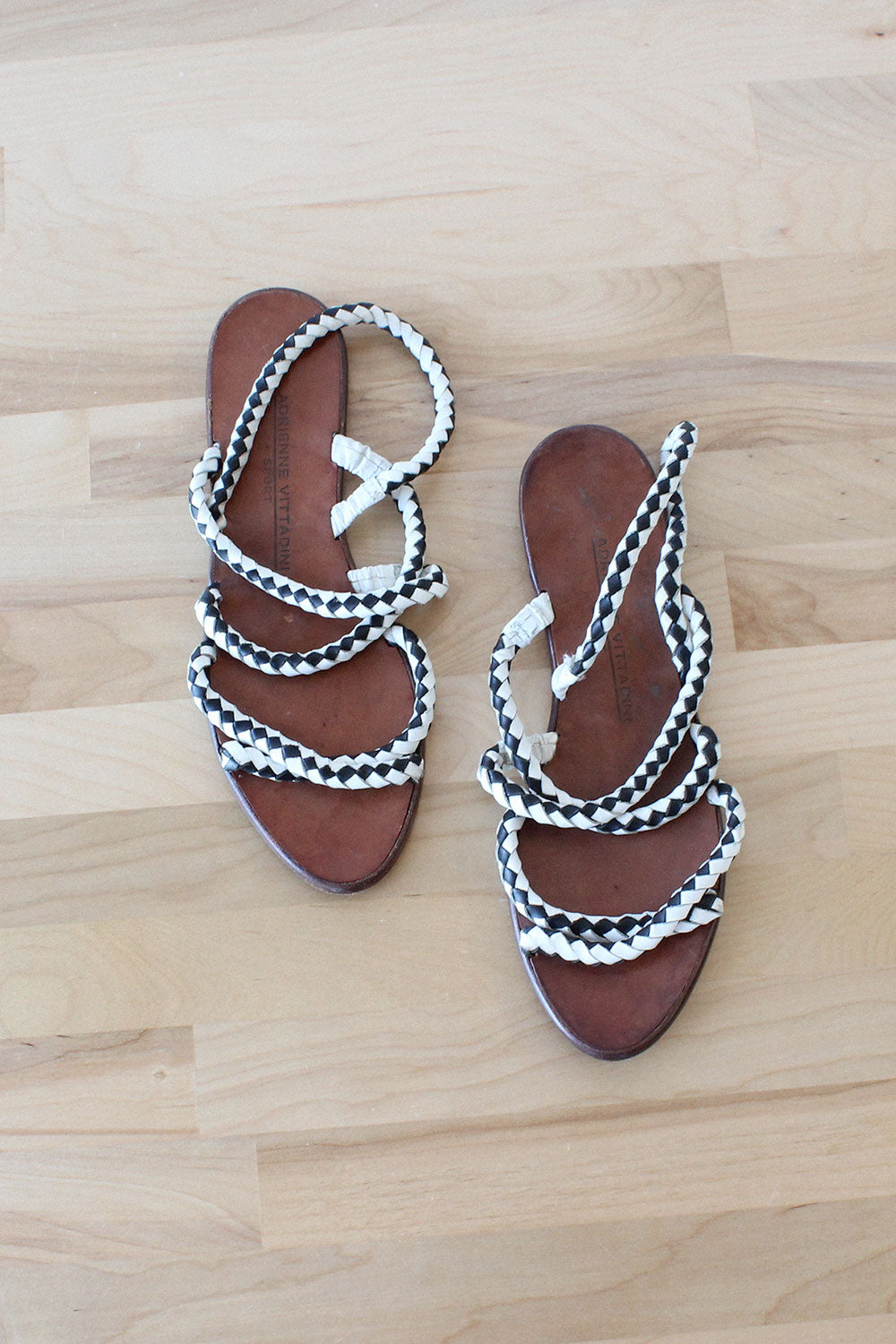Vittadini Leather Rope Sandals 7 1/2-8