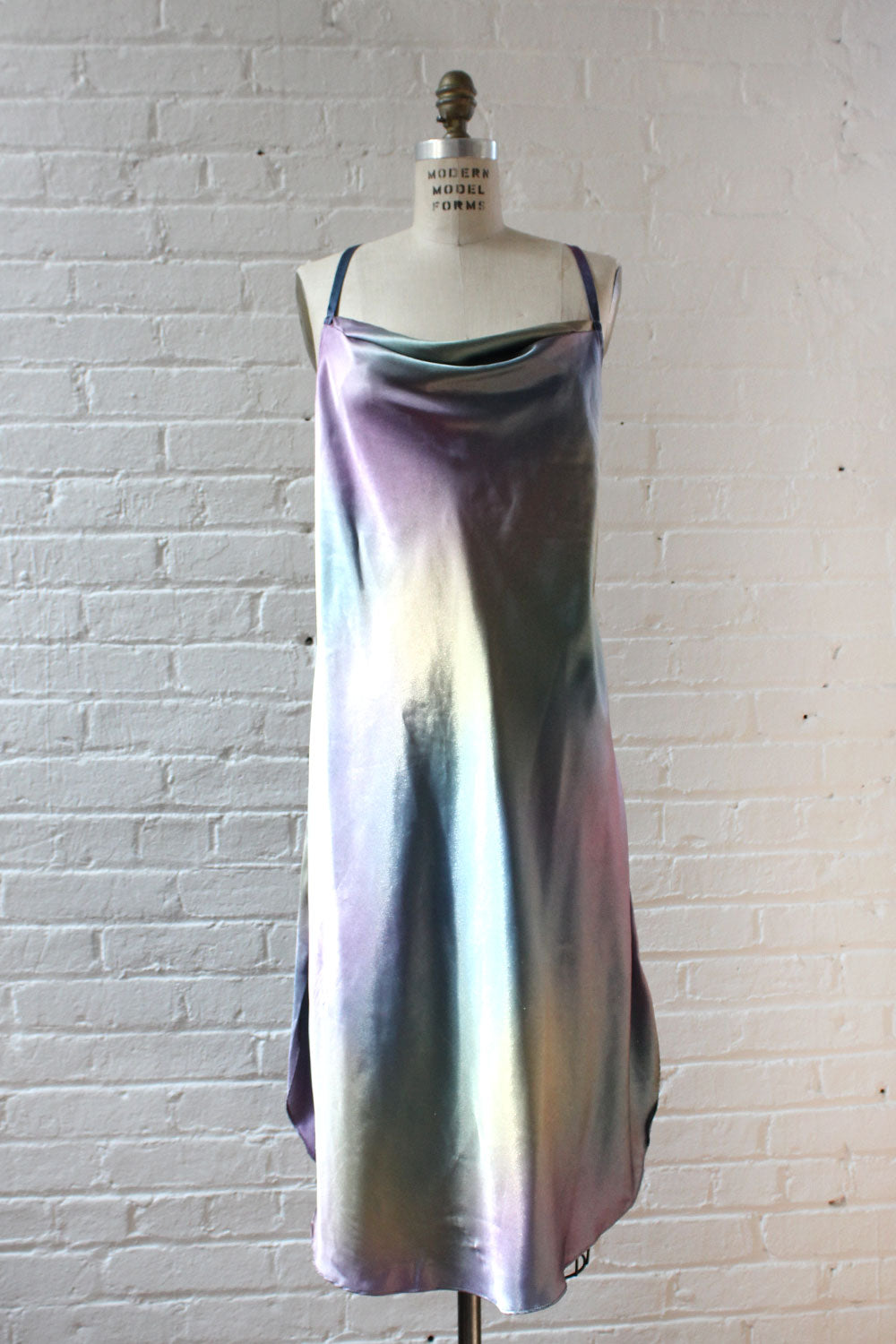 Iridescent Satin Slipdress M/L