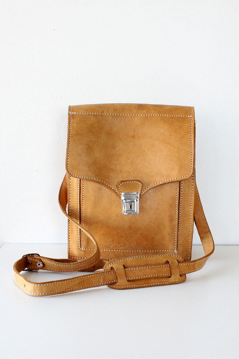 Honey Tan Leather Satchel