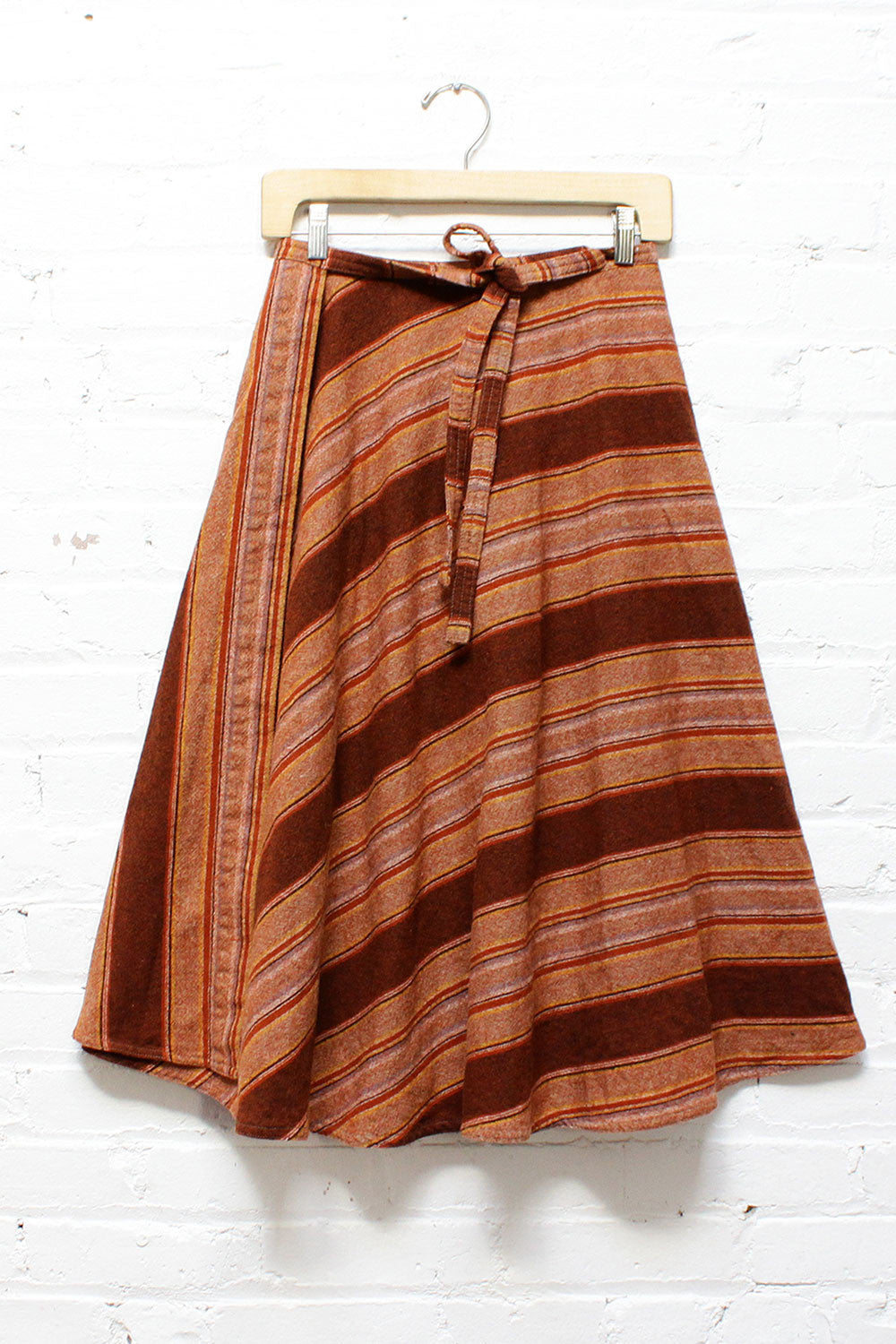 Earthy Wool Wrap Skirt