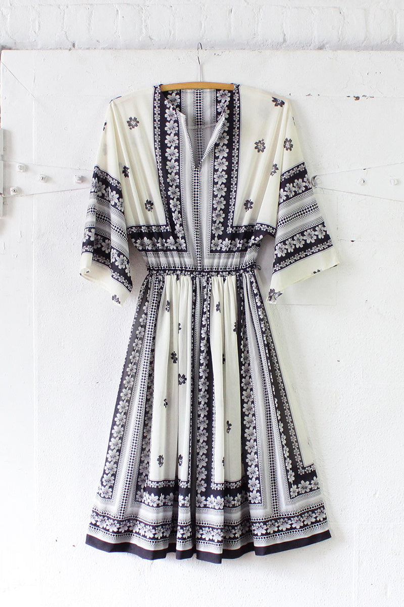 Flyaway Scarf Print Dress