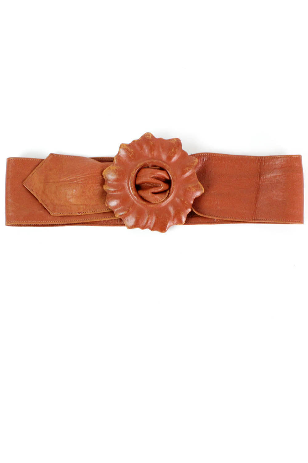 rust flower buckle belt