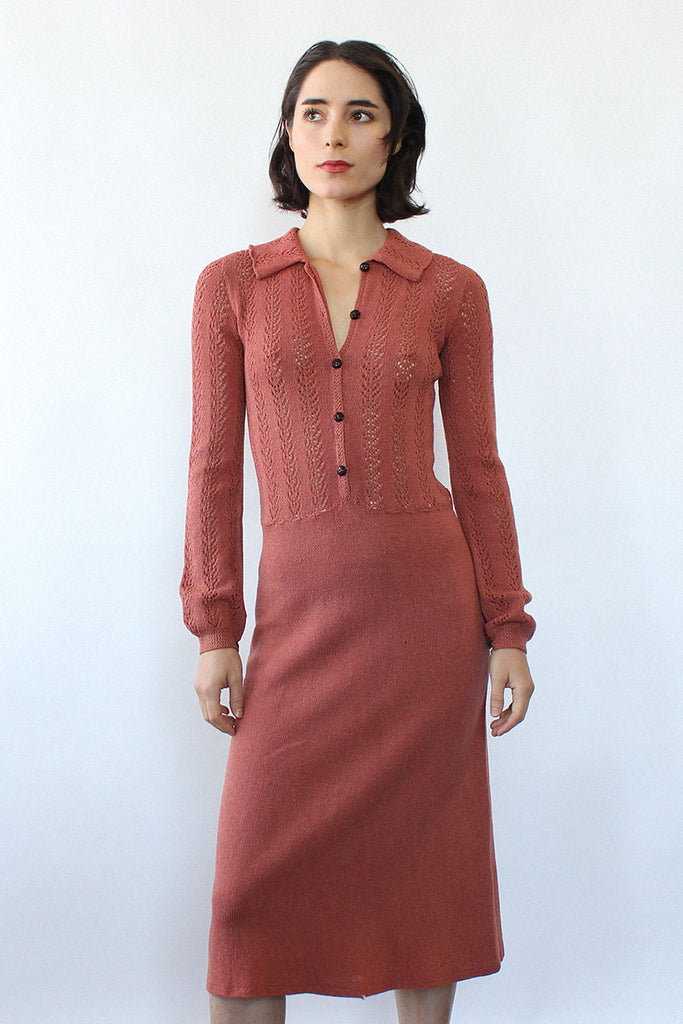 Rose Pointelle Sweaterdress XS/S