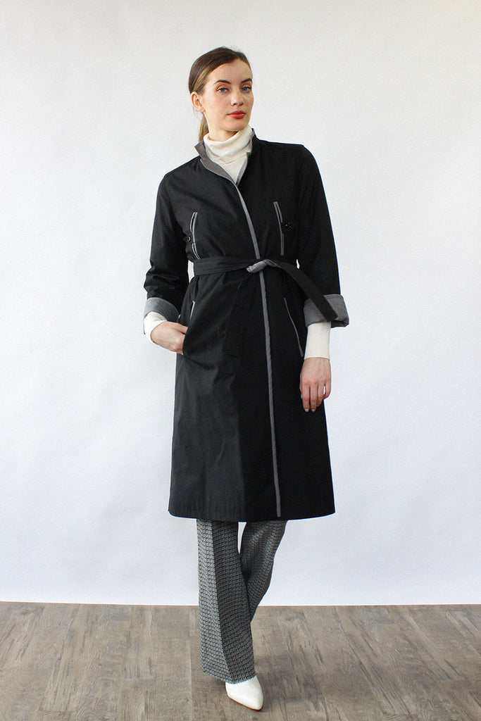 Reversible Quilted Trench Coat XS/S