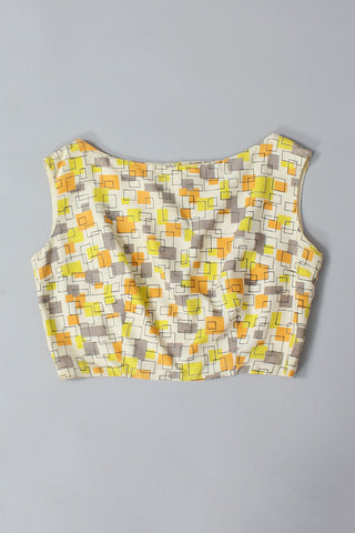 50s Popsicle Crop Top L