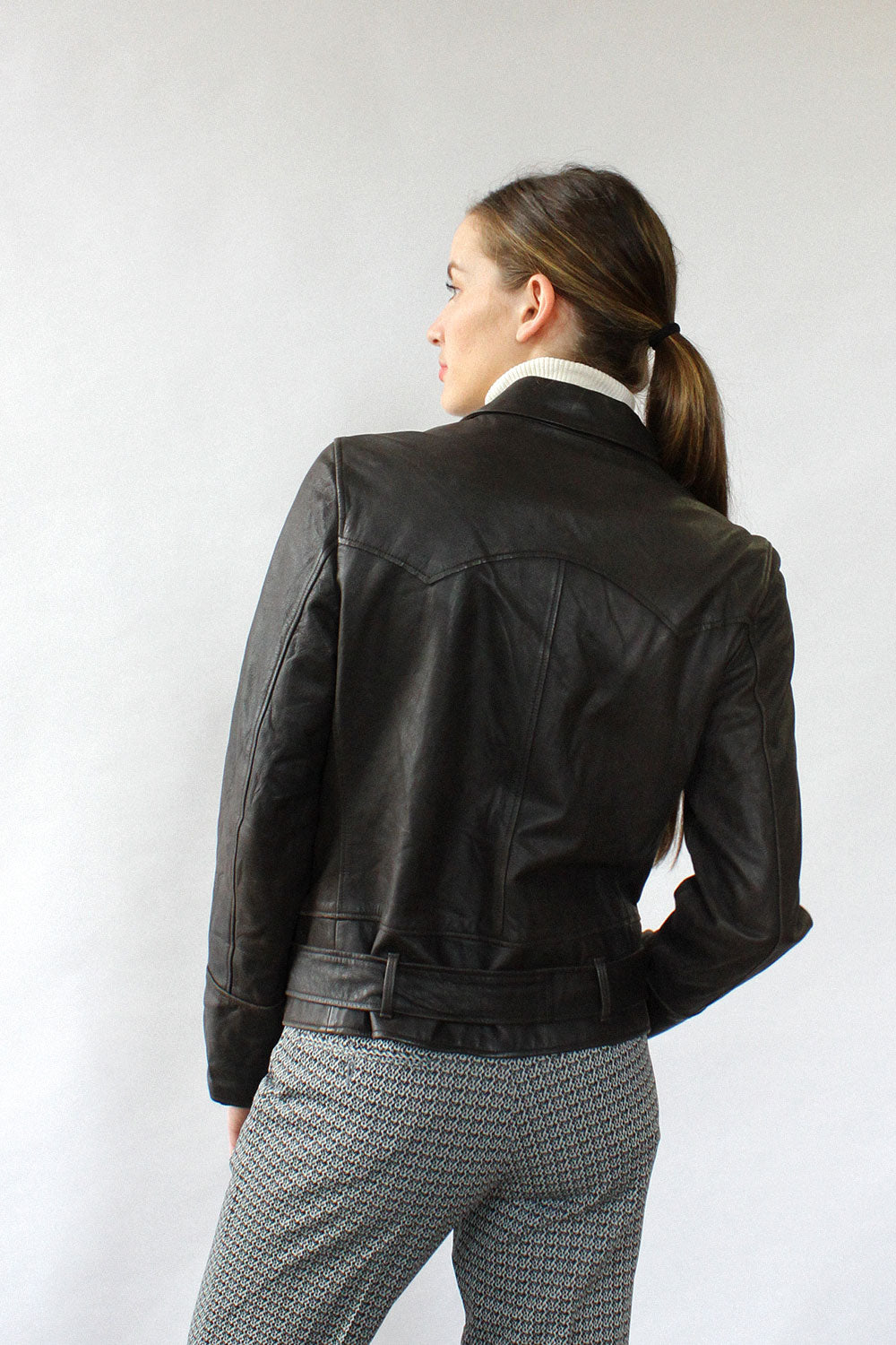 Ralph Lauren Leather Moto Jacket M