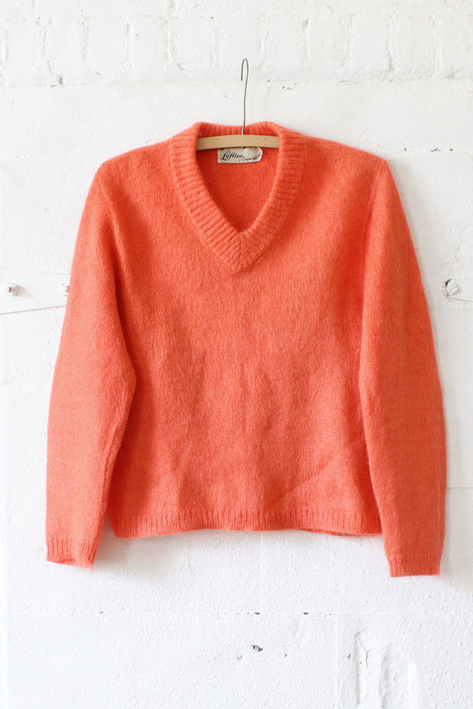 Cozy Coral Fluffy Sweater S/M