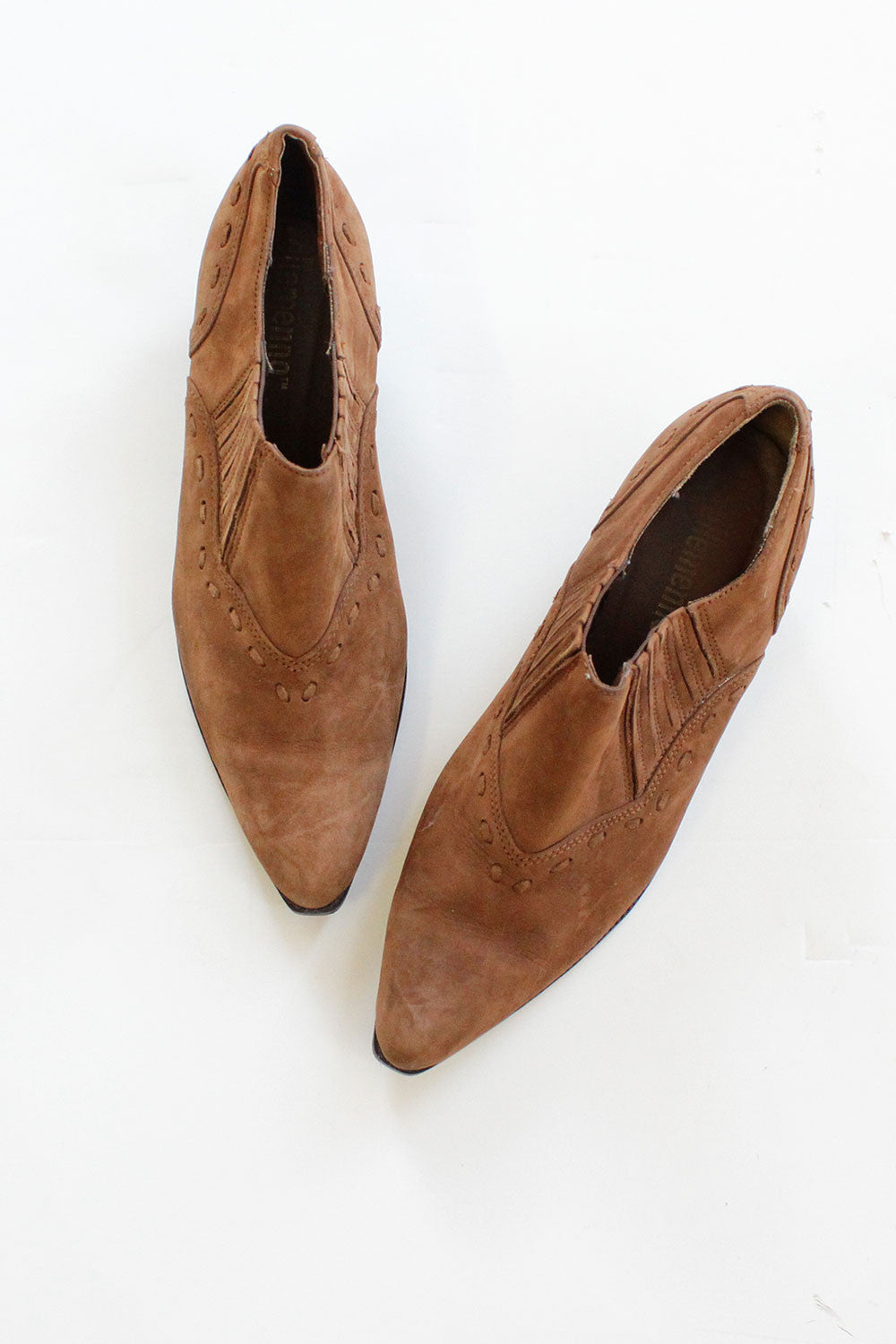 Cinnamon Brown Western Booties 7 1/2