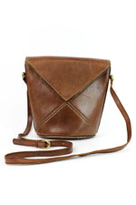 vintage leather bucket bag
