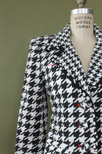 Saks Graphic Houndstooth Jacket S
