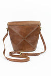 vintage brown bucket bags