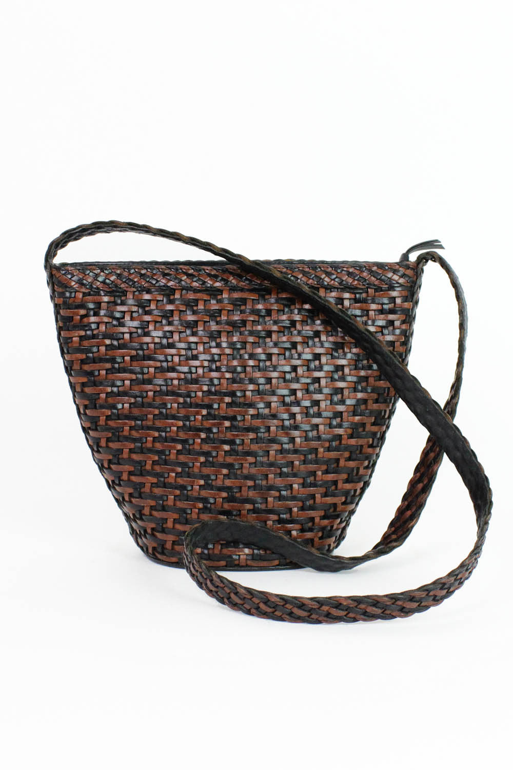 Basketweave Bucket Bag