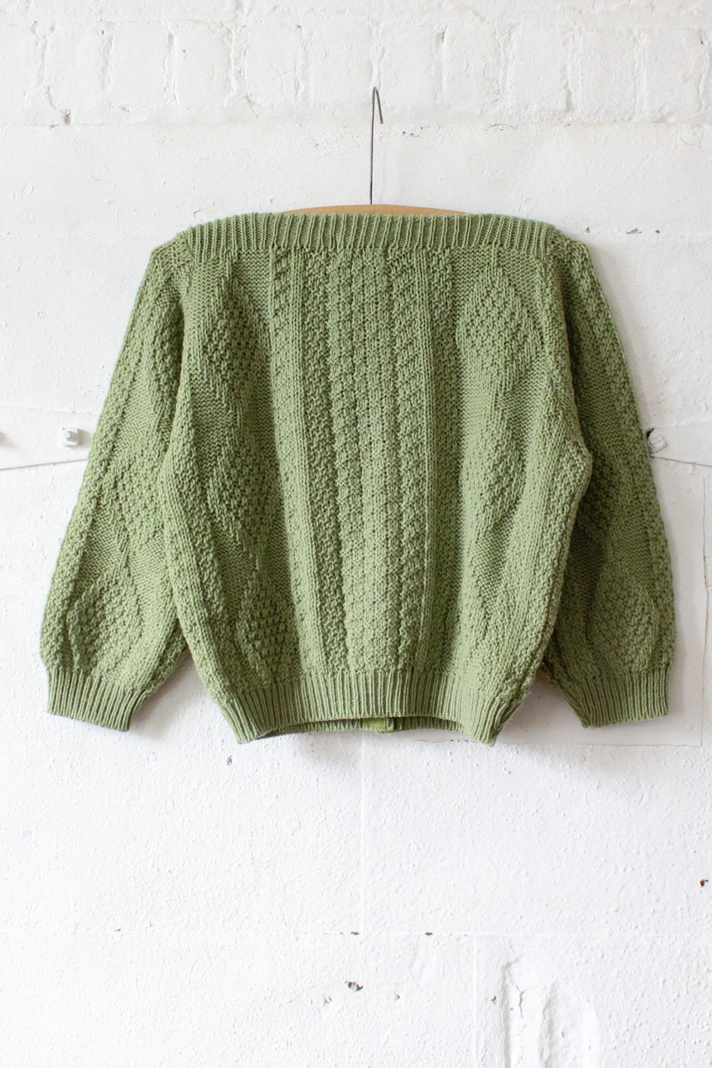 Avocado Cropped Cardigan XS/S