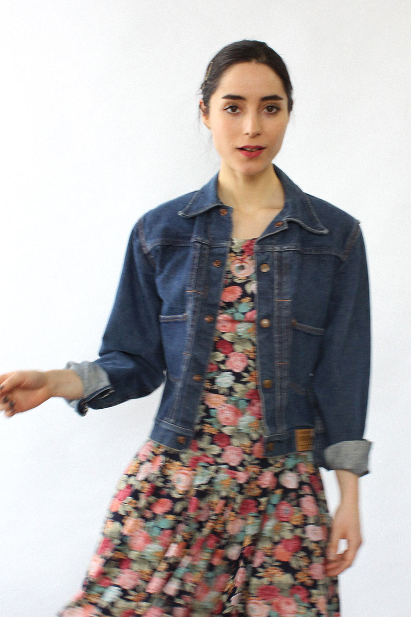 Sears Denim Patch Jacket S/M