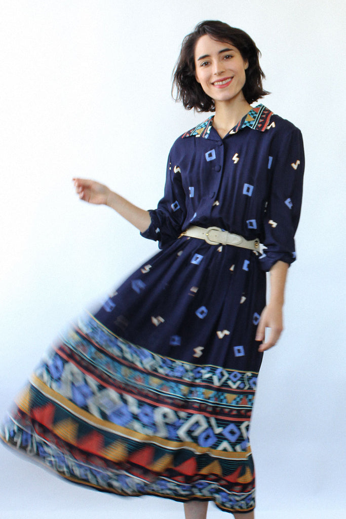 Navy Nonsense Dress M/L