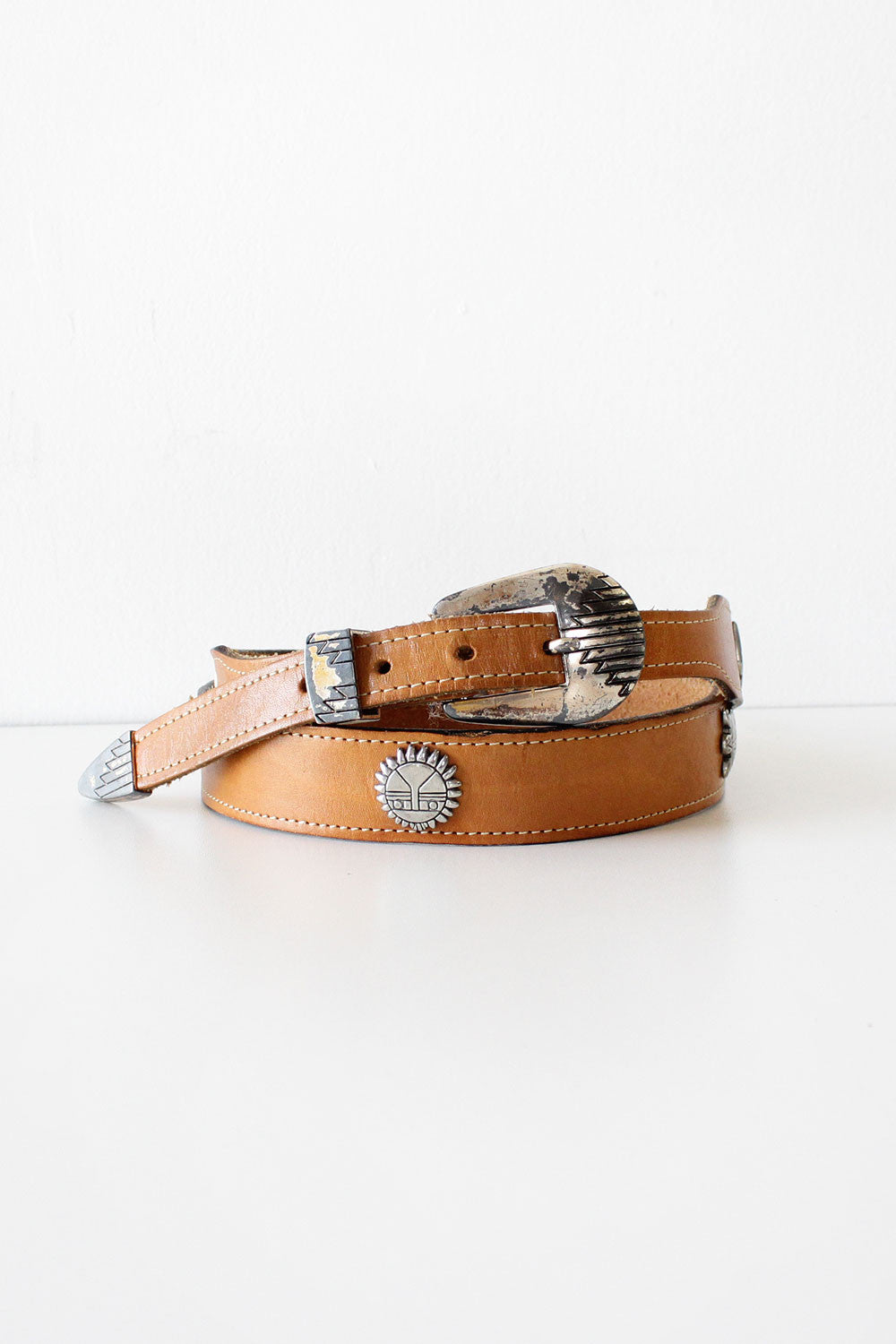 Animal Medallion Western Belt