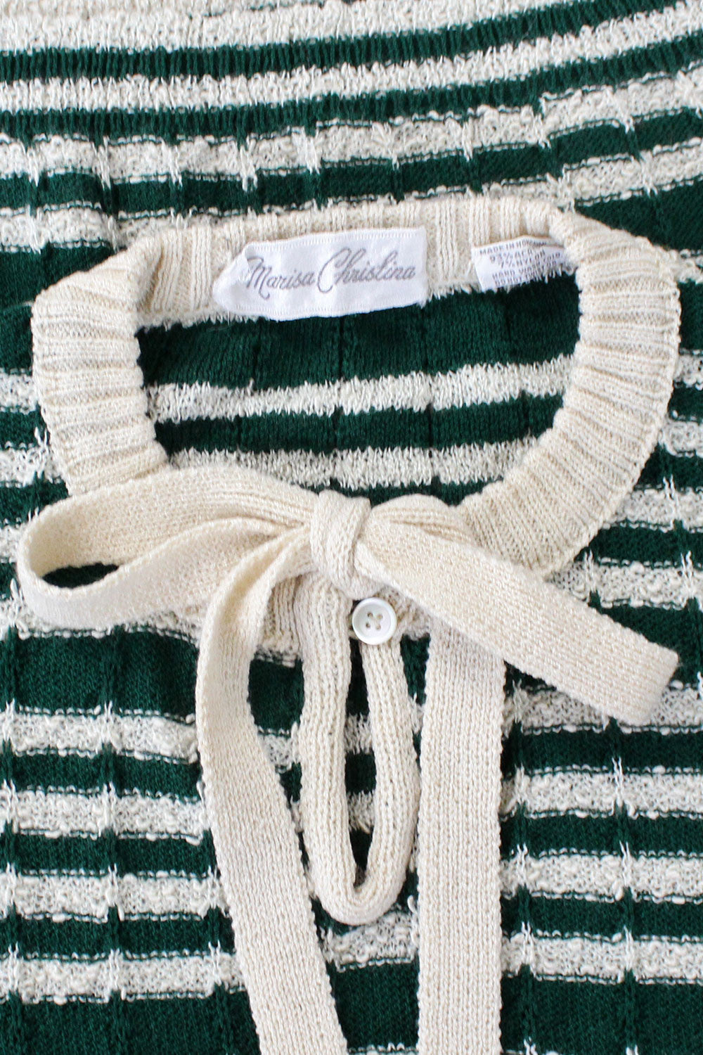Green Stripe Bow Tie Sweater XS/S