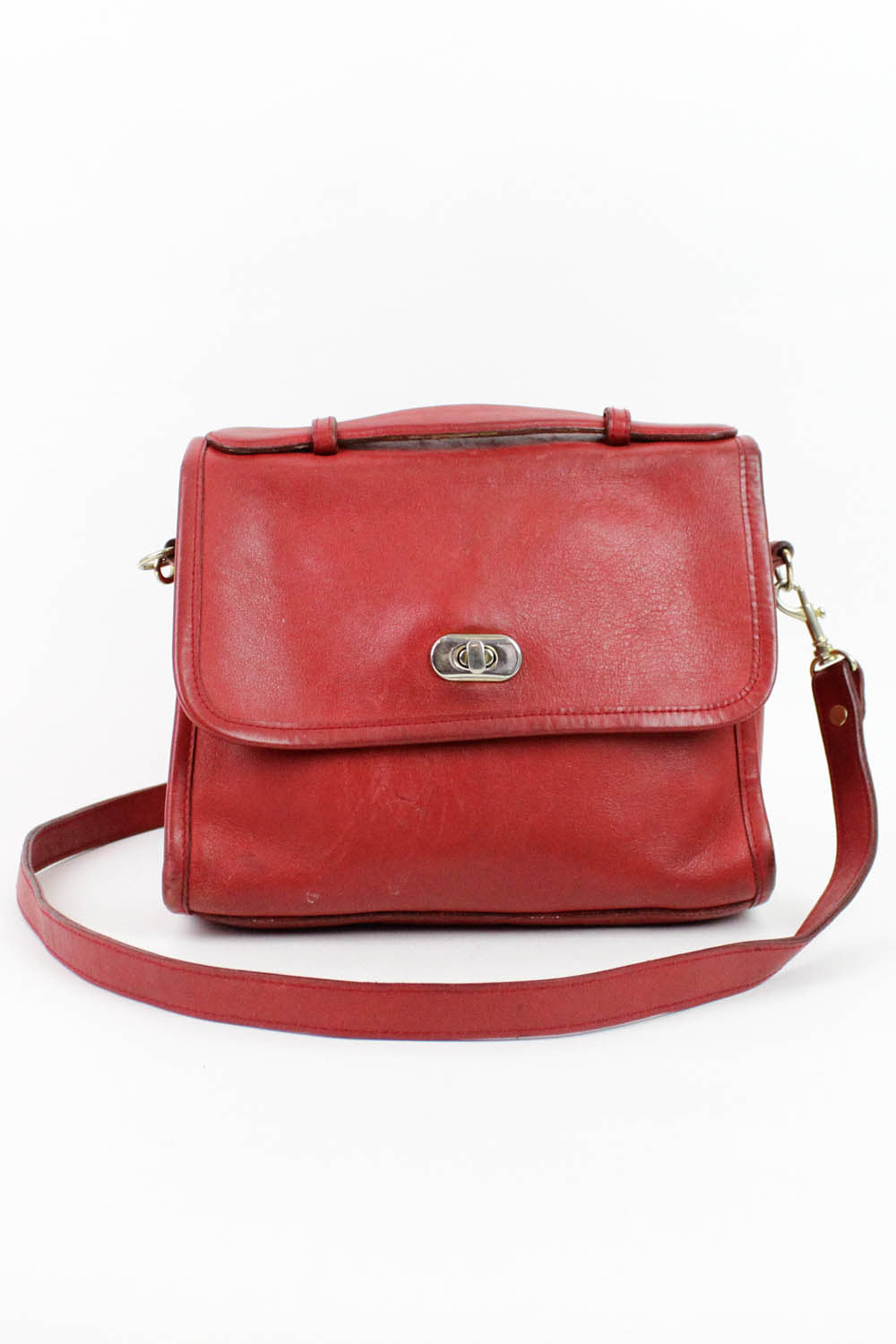 vintage red top handle handbags