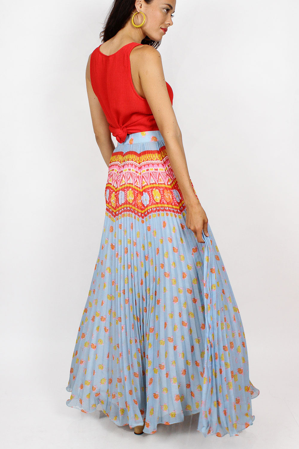 Elissa Pleated Maxi Skirt M