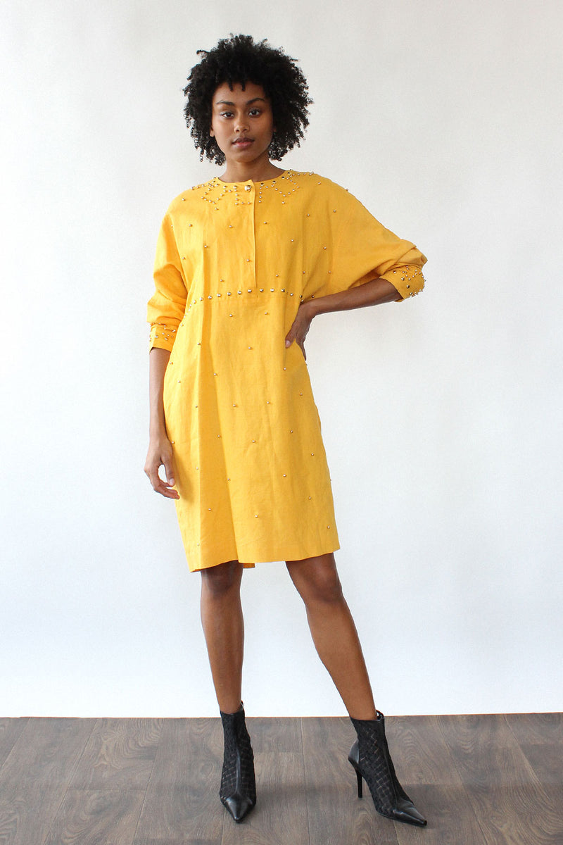 Marigold Studded Slouch Dress M