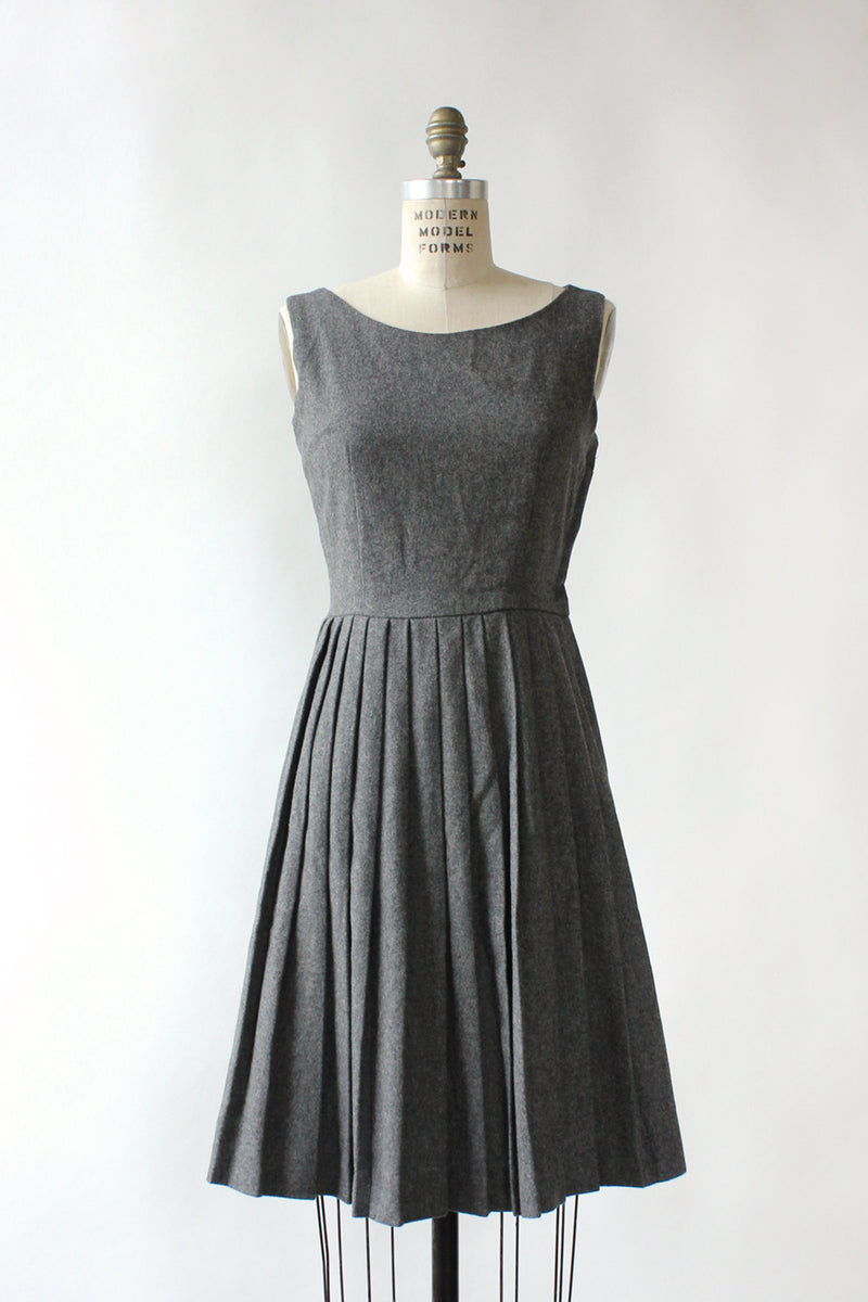 Gris Pleated Dress S/M
