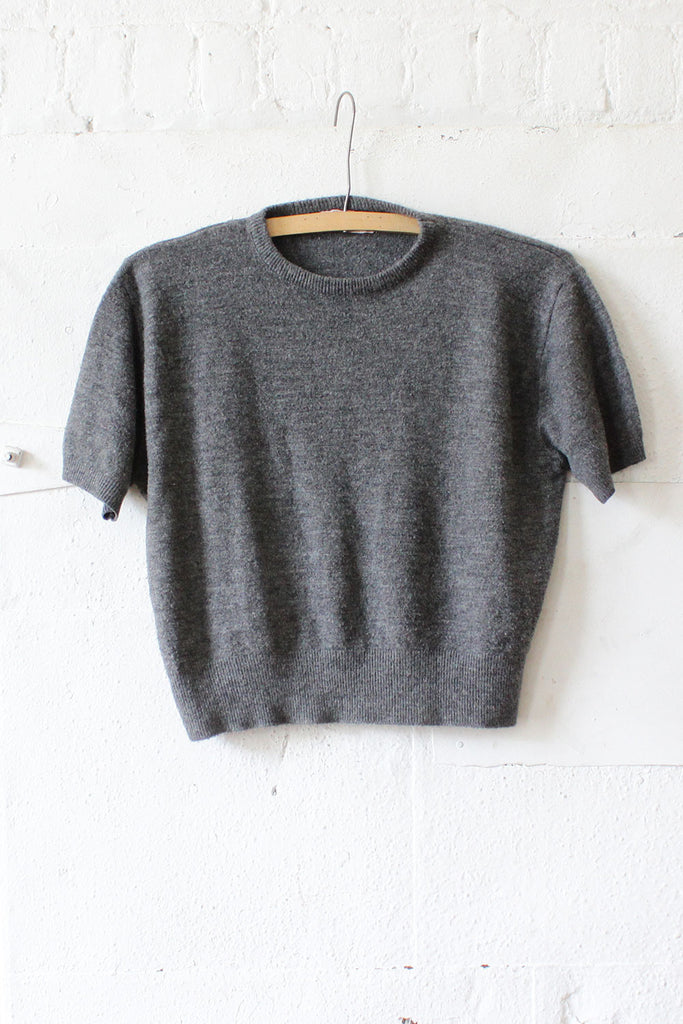 Charcoal 60s Sweater Tee S/M