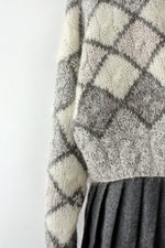Gray Harlequin Cardigan M