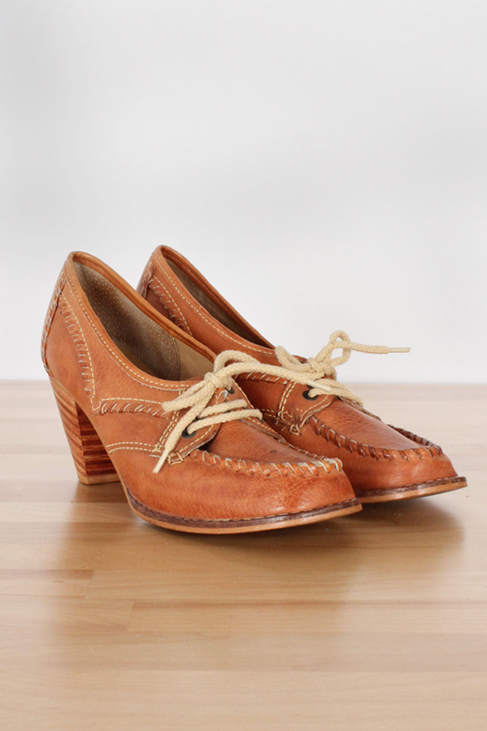 Honey Lace-up Leather Shoes 7.5-8