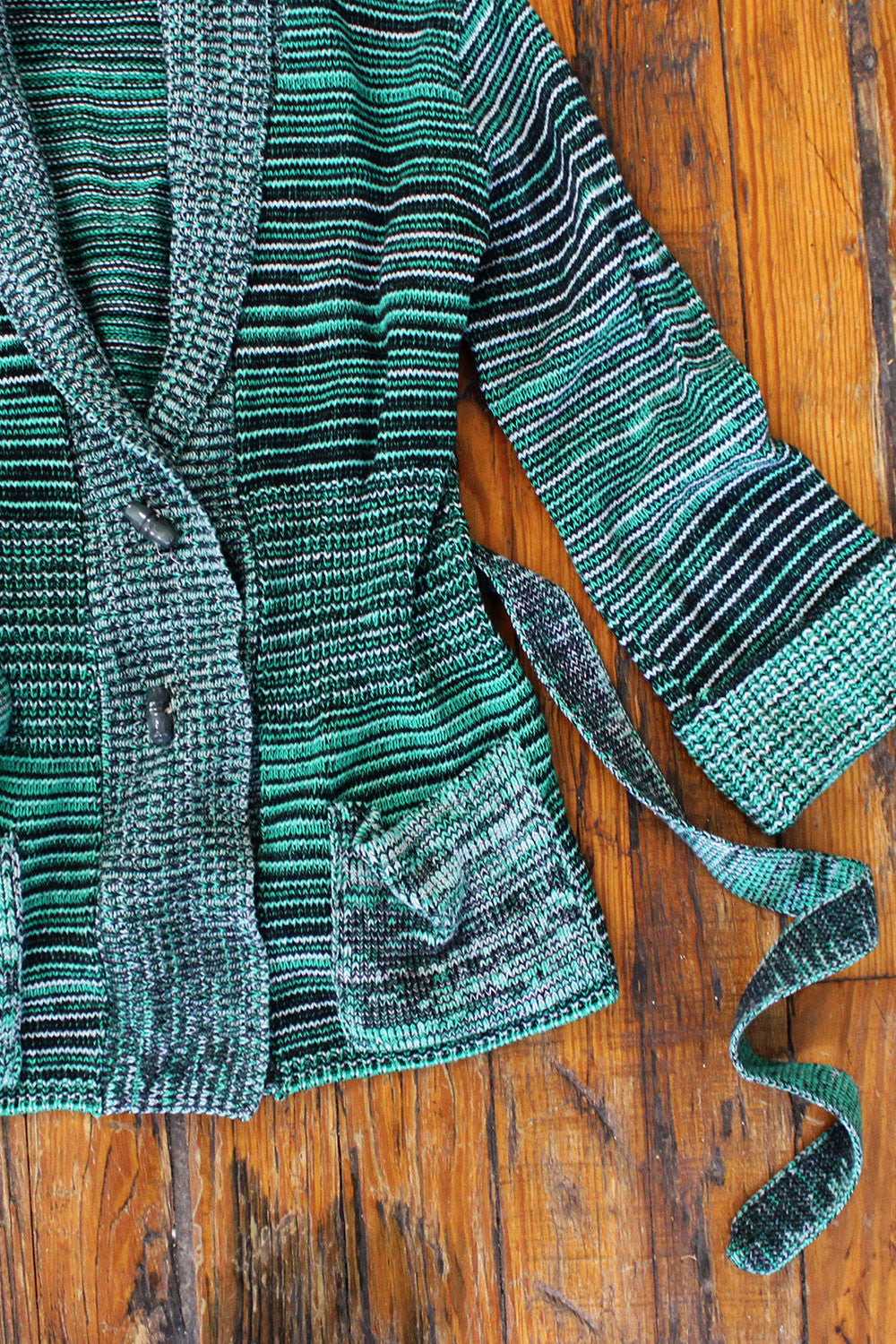 Green Space Dye 70s Cardigan XS/S