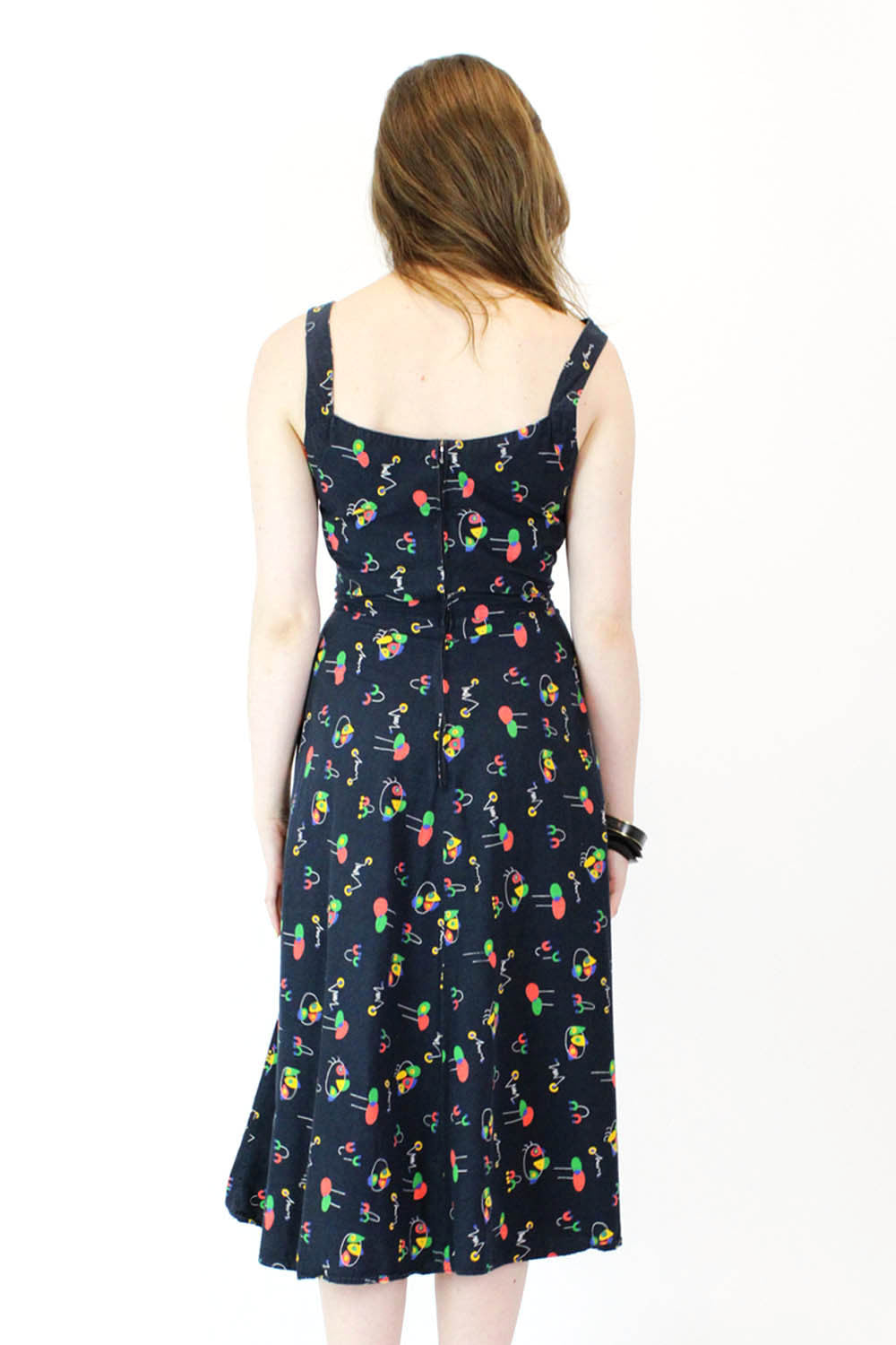 60s Miro Abstract Print Dress S