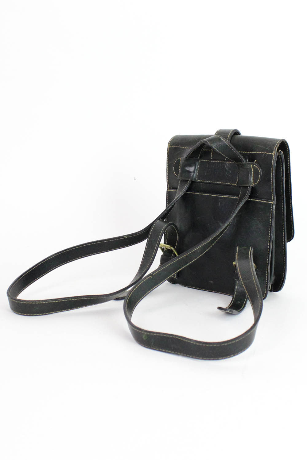 Mini Convertible Leather Backpack