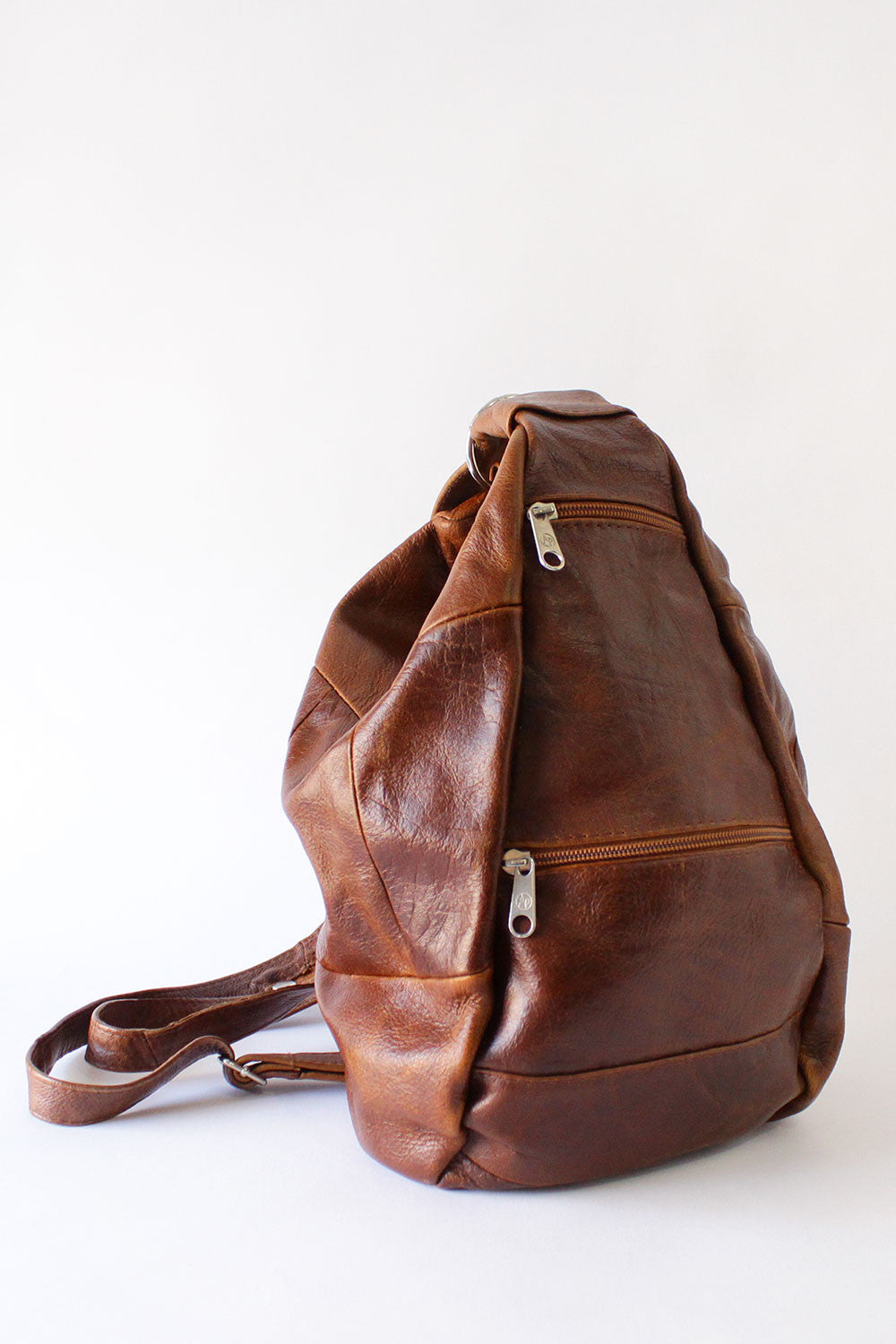 Brown Bucket Backpack