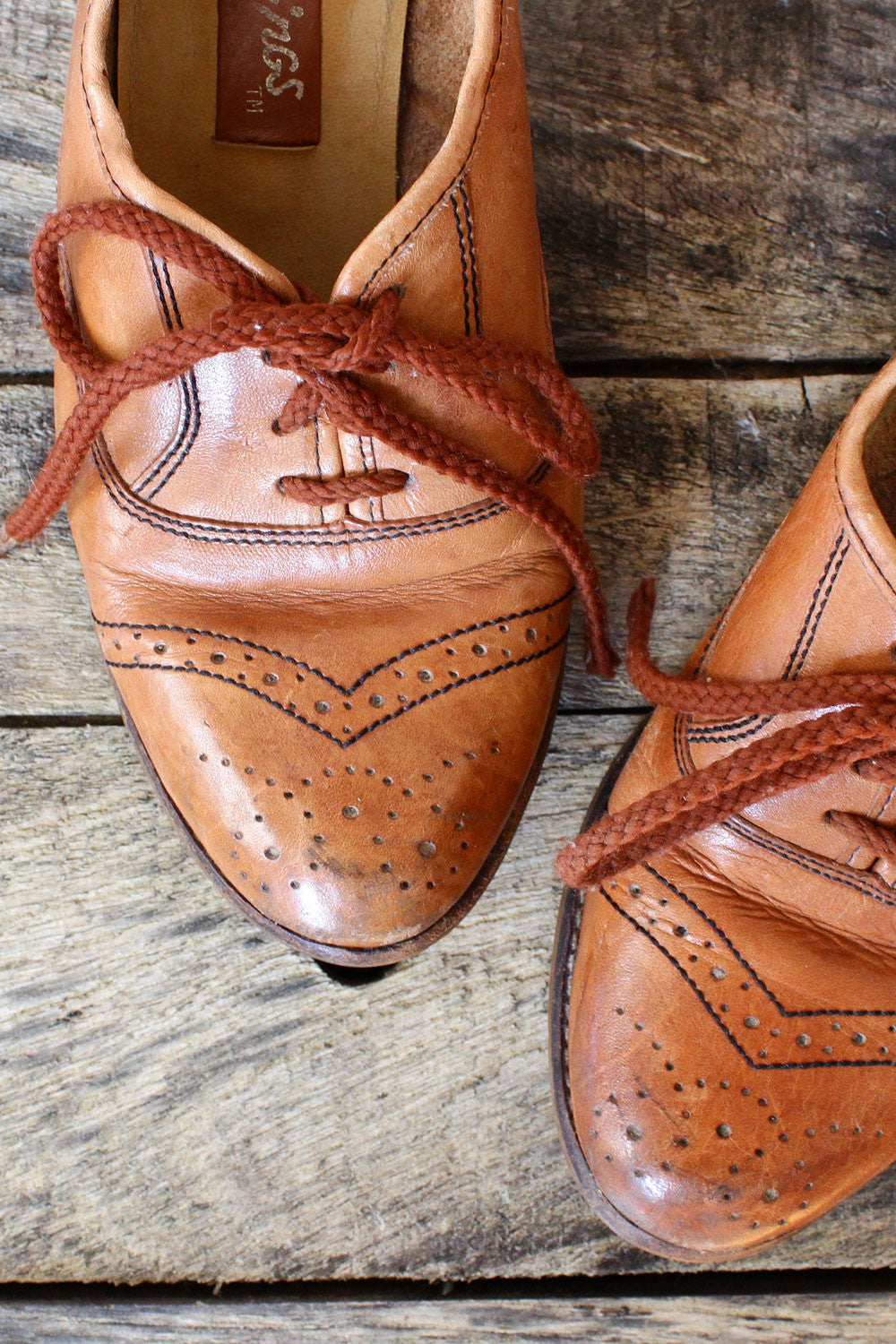 70s Heeled Oxfords 9