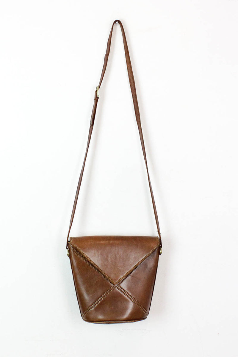 leather crossbody bucket bag